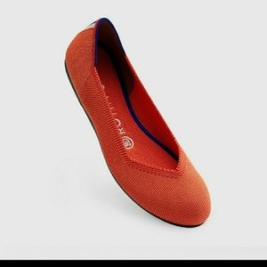 Rothy's Persimmon Orange Coral Flats size 9
